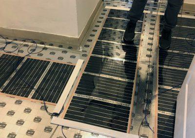 Elektromos padlófűtés telepítés