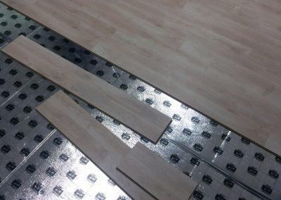 Fűtőfilm padlófűtés irodában