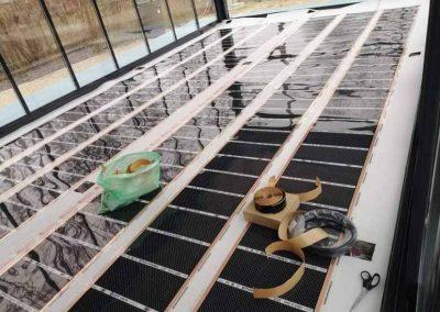 Fűtőfólia télikertben telepítéssel